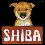 デコシール 犬 シバ サイズ:ミニ W100×H100 (62073)