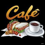 デコシール サンドイッチ コーヒー  サイズ:レギュラー W285×H285 (62093)
