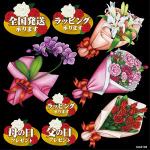 お花やさんスタイル 看板・ボード用イラストシール (W285×H285mm)