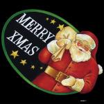 デコシール メリークリスマス サイズ:ビッグ W600×H600 (62111)