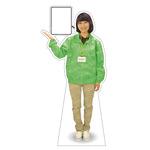 等身大パネル イベントブルゾン(STAFF)-A ポーズ左向き カラー・モデル:グリーン・野原奈々 (62415)