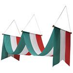 ウェーブペナント 緑白赤 W450×H500×L3000 (63109)