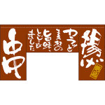 【新商品】揚げ 串 (四角タイプ) 変型のれん (63207)
