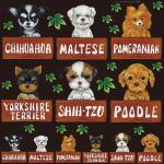 犬各種1 看板・ボード用イラストシール