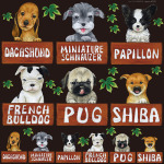 犬各種2 看板・ボード用イラストシール