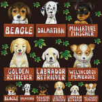 犬各種3 看板・ボード用イラストシール
