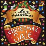 クリスマス(5) 看板・ボード用イラストシール (W285×H285mm)