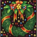 クリスマス(6) 看板・ボード用イラストシール (W285×H285mm)