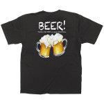 黒Tシャツ ビール サイズ:L (64154)