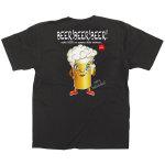 黒Tシャツ ビール キャラクター サイズ:XL (64175)