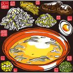 ラーメン 看板・ボード用イラストシール オレンジの丼 (W285×H285mm)