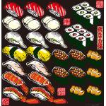 寿司 看板・ボード用イラストシール (W285×H285mm)