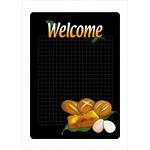 マジカルPOP ウェルカム 右下にパンの絵柄 サイズ:S (6535)