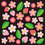 春(1) 看板・ボード用イラストシール (W285×H285mm)