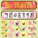 春(6) 看板・ボード用イラストシール (W285×H285mm)