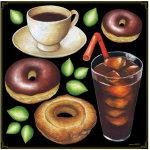 ドーナツ・コーヒー ボード用イラストシール (68531)