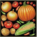 野菜アソート(玉ねぎ、かぼちゃなど) ボード用イラストシール (68539)