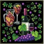 ワイン・サングリア ボード用イラストシール 下段にブドウ(68566)