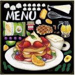 パンケーキ ボード用イラストシール (68575)