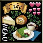 各種ケーキ ボード用イラストシール シフォン (68576)