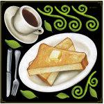 コーヒー・トースト ボード用イラストシール (68579)