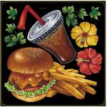 ハンバーガー・ポテト ボード用イラストシール (68580)