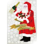 巨大ウィンドウシール1100mm×1600mm 両面印刷 クリスマス サンタ・ケーキ (6893)