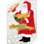 巨大ウィンドウシール1100mm×1600mm 両面印刷 クリスマス サンタ・ブレッド (6894)