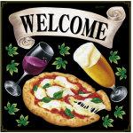 ピザ・ビール・ワイン ボード用イラストシール (69479)