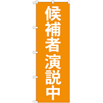 選挙のぼり旗 候補者演説中 (GNB-1923)