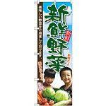 のぼり旗 新鮮野菜 子供写真 (SNB-2206)