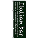 のぼり旗 Italian bar (緑) (SNB-3092)
