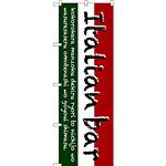 のぼり旗 Italian bar (三色) (SNB-3093)