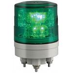 超小型LED回転灯 ニコミニ・スリム Φ45 緑 規格:3点留 (VL04S-024AG)