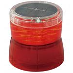 ソーラーLED回転灯 ニコソーラー 105Φ 赤 電池:キャパシタ 規格:マグネット留 (VM10S-DR/M)