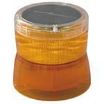 ソーラーLED回転灯 ニコソーラー 105Φ 黄 電池:バッテリー 規格:2点留 (VM10S-BY)