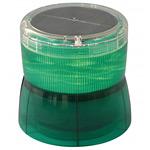 ソーラーLED回転灯 ニコソーラー 105Φ 緑 電池:バッテリー 規格:2点留 (VM10S-BG)