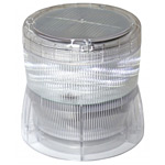 ソーラーLED回転灯 ニコソーラー 105Φ 白 電池:バッテリー 規格:2点留 (VM10S-BW)