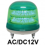 LED回転灯 ニコモア Φ170 AC/DC12V 緑 規格:マグネットアタッチメント 電子音出力:有り (VL17M-012BG/M)