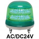 LED回転灯 ニコモア Φ170 AC/DC24V 緑 規格:マグネットアタッチメント 電子音出力:無し (VL17M-024AG/M)