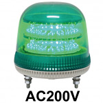 LED回転灯 ニコモア Φ170 AC200V 緑 規格:3点留 電子音出力:無し (VL17M-200AG)