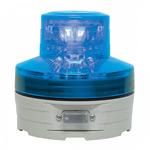 電池式LED回転灯 ニコUFO Φ76 青 点灯方式:手動 (VL07B-003AB)