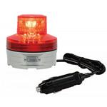 シガープラグ式LED回転灯 ニコUFO Φ76 赤 DC:12V/24V兼用 (VL07B-003AR/CP)