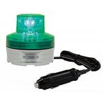 シガープラグ式LED回転灯 ニコUFO Φ76 緑 DC:12V/24V兼用 (VL07B-003AG/CP)
