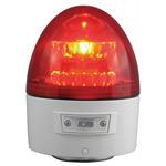 電池式LED回転灯 ニコカプセル Φ118 赤 点灯方式:自動 (VL11B-003BR)