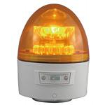 電池式LED回転灯 ニコカプセル Φ118 黄 点灯方式:手動 (VL11B-003AY)