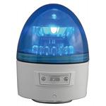 電池式LED回転灯 ニコカプセル Φ118 青 点灯方式:手動 (VL11B-003AB)