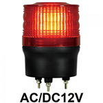 LED回転灯 ニコトーチ Φ90 AC/DC12V 赤 規格:3点留 機能:回転・ブザー (VL09R-012BR)