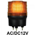 LED回転灯 ニコトーチ Φ90 AC/DC12V 黄 規格:3点留 機能:回転 (入力制御無し) (VL09R-012NY)