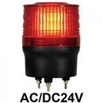 LED回転灯 ニコトーチ Φ90 AC/DC24V 赤 規格:3点留 機能:回転 (入力制御無し) (VL09R-024NR)
